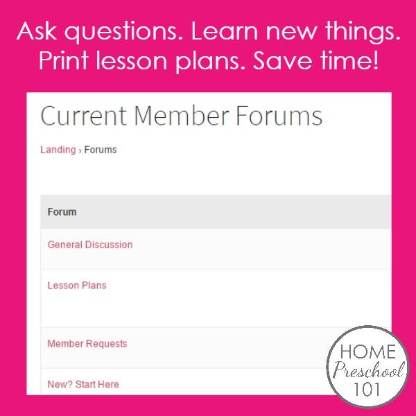 Home Preschool 101 Membership Forums