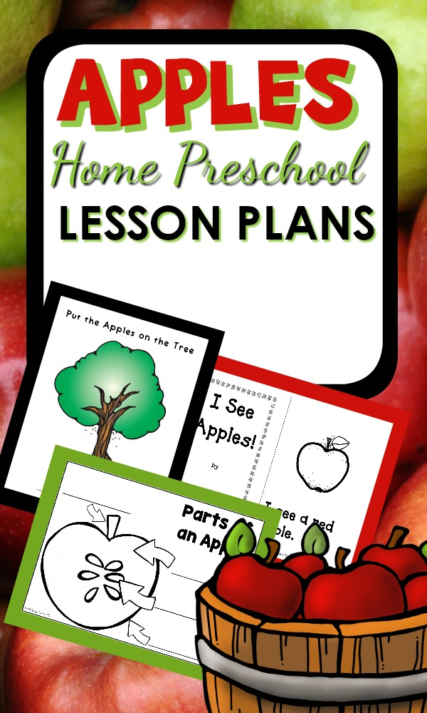 Home Preschool Apple Activities and Lesson Plans for Fall