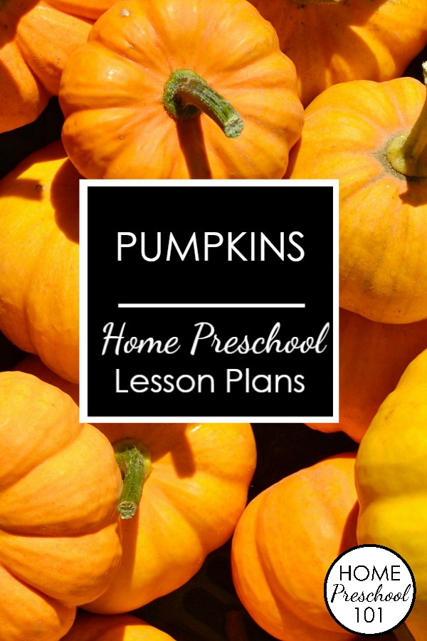 Pumpkin Theme Home Preschool Lesson Plans-Use real pumpkins for math, science, literacy and more.