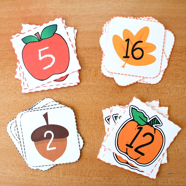 Free Printable Fall Number Cards