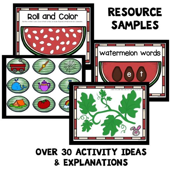 Home Preschool Activities for a Watermelon Theme