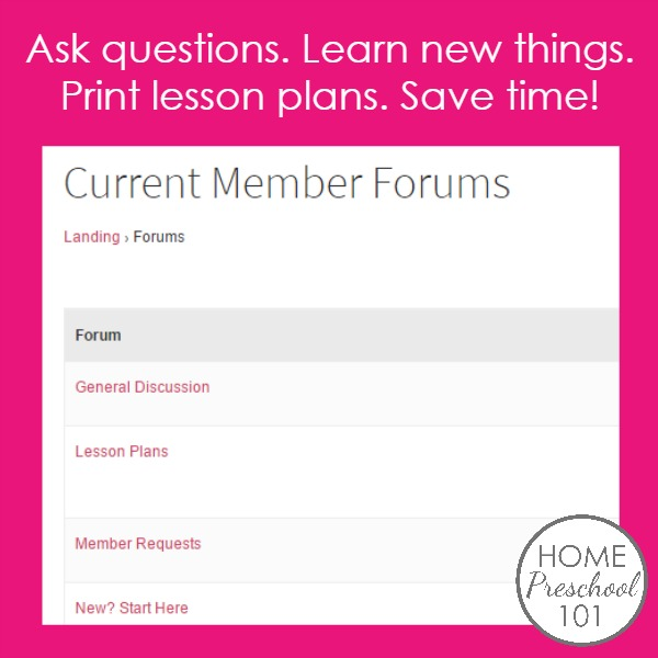 Home Preschool 101 Membership Forums