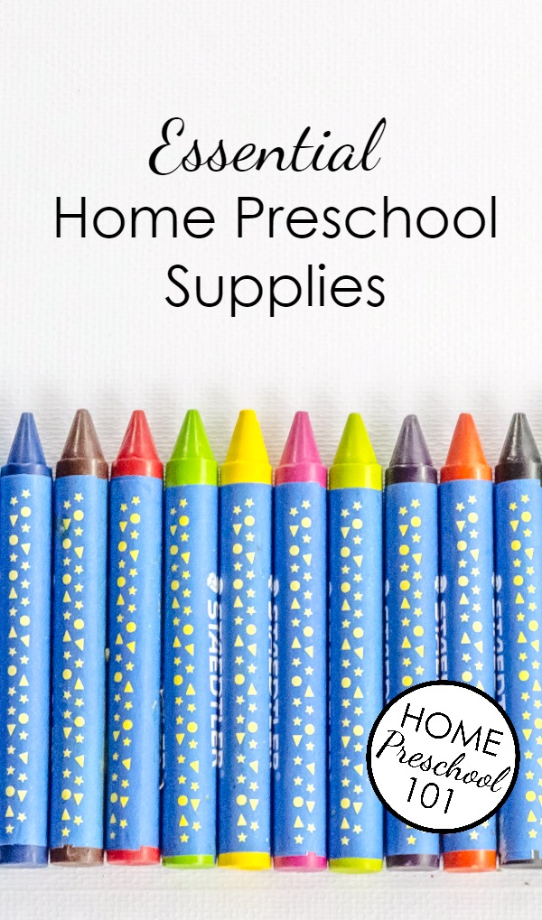 Essential Home Preschool Supplies-Printable Planning Checklist Included
