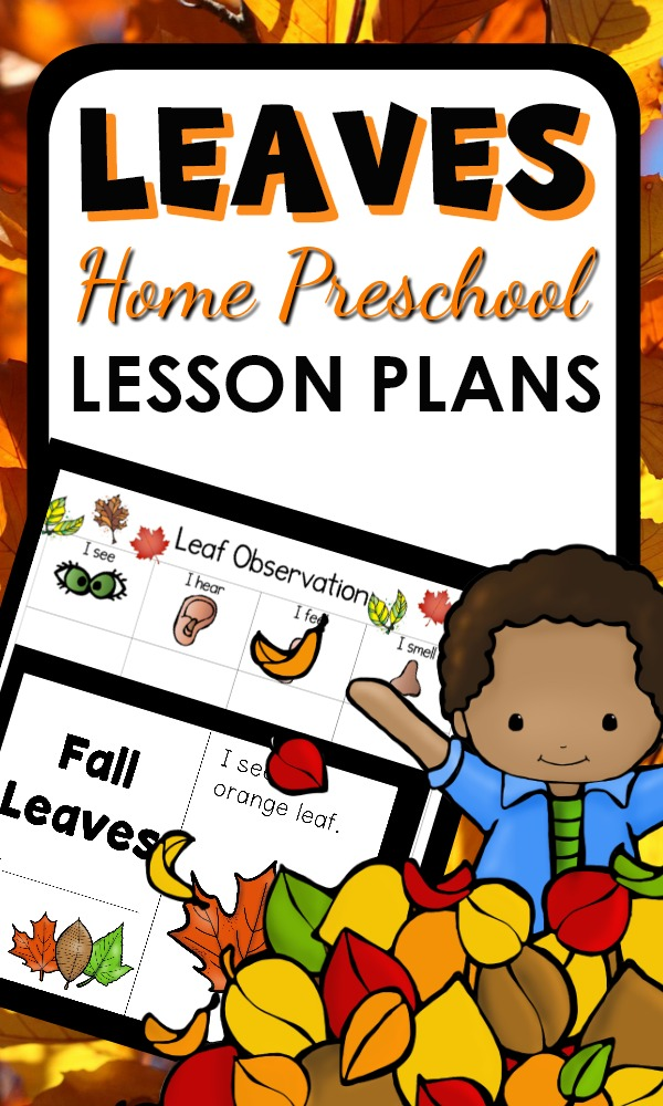 Leaf theme activities for home preschool. Full of hands-on literacy, math, science, sensory activities and more
