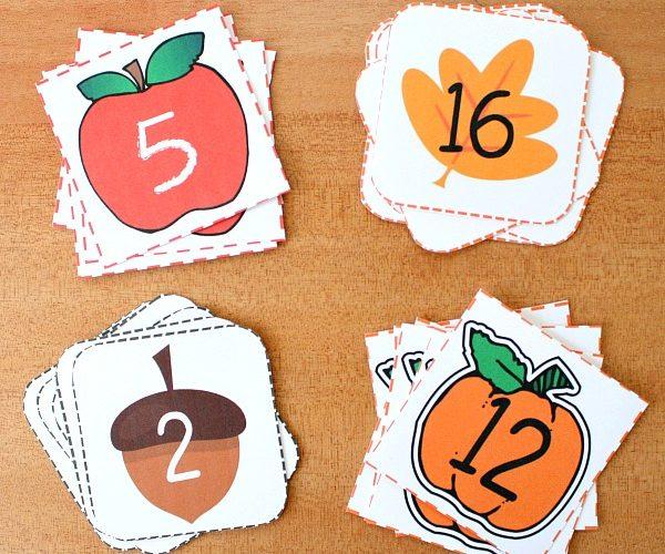 Fall Printable Calendar Cards