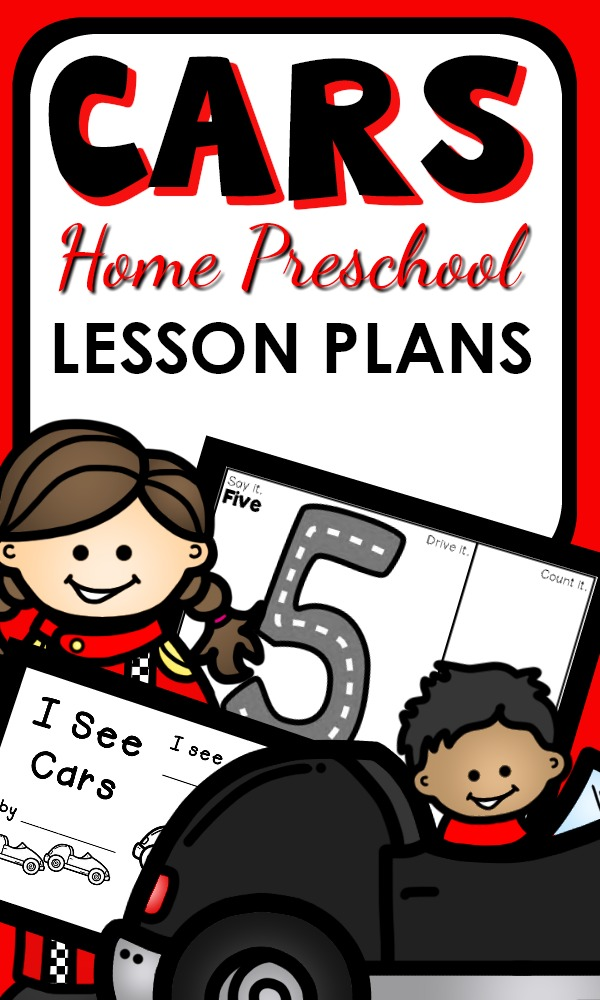 Car Theme Home Preschool Lesson Plans-Hands-on learning with toy cars, STEM inspired play and printable learning activities for preschoolers