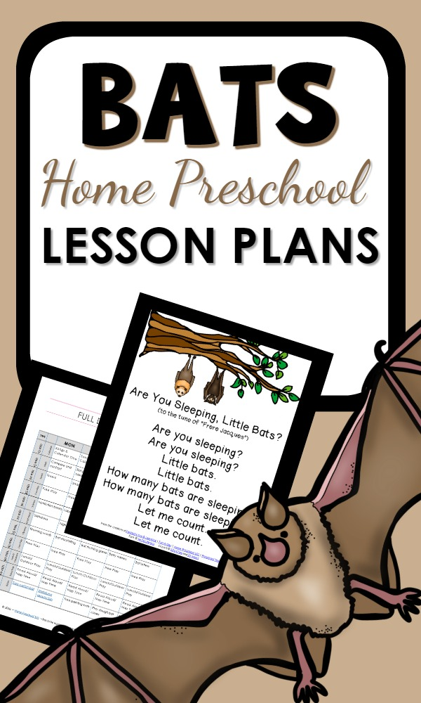 Home Preschool Printable Bat Lesson Plans and Activities
