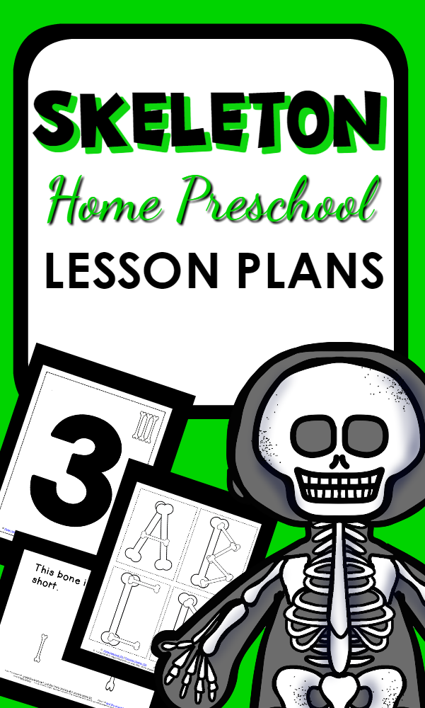 Skeleton Theme Activities and Lesson Plans for Home Preschool-Fun science for any time of year, or a great Halloween topic for young learners