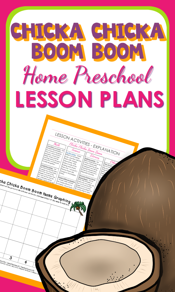 Printable Home Preschool Lesson Plans and activities to go with Chicka Chicka Boom Boom