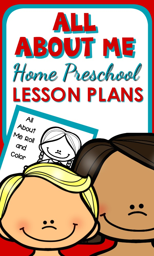 All About Me Theme Printable Lesson Plans and Activities for Home Preschool