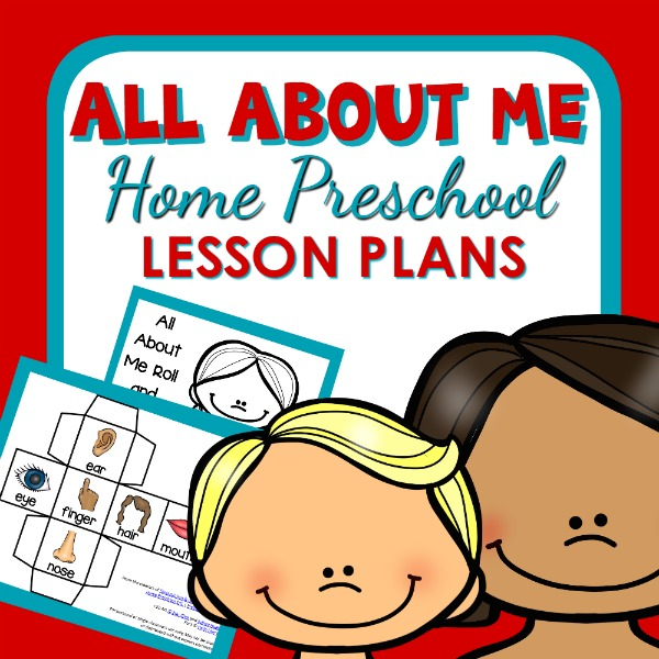 All About Me Theme Home Preschool Lesson Plan Home Preschool 101