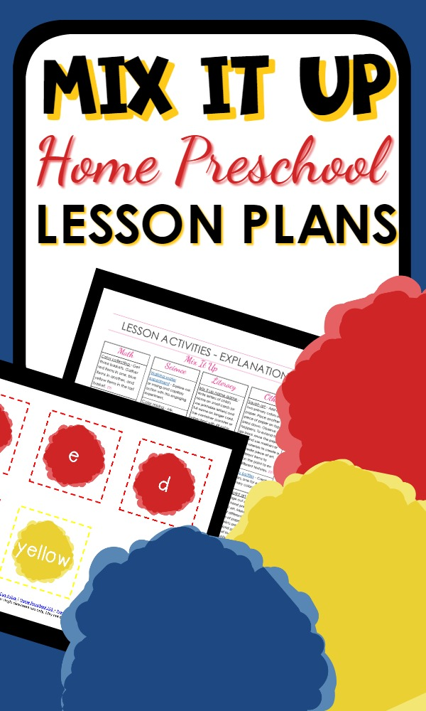 Mix It Up Book-Based Lesson Plan Packet for Home Preschool