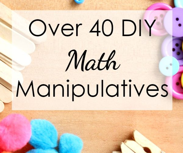 Over 40 DIY Math Manipulatives you might already have at home...great for home preschool math activities!