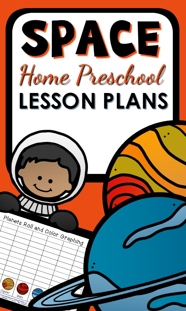 Home Preschool Space Theme Printable Lesson Plans-Includes hands-on math and reading activities, science investigations, printable resources, sensory play ideas and more
