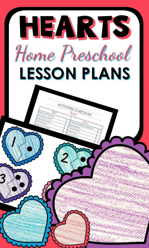 Home Preschool Hearts Lesson Plans-Great activities for Valentine's Day