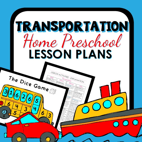 Transportation Theme Home Preschool Lesson Plan Home Preschool 101