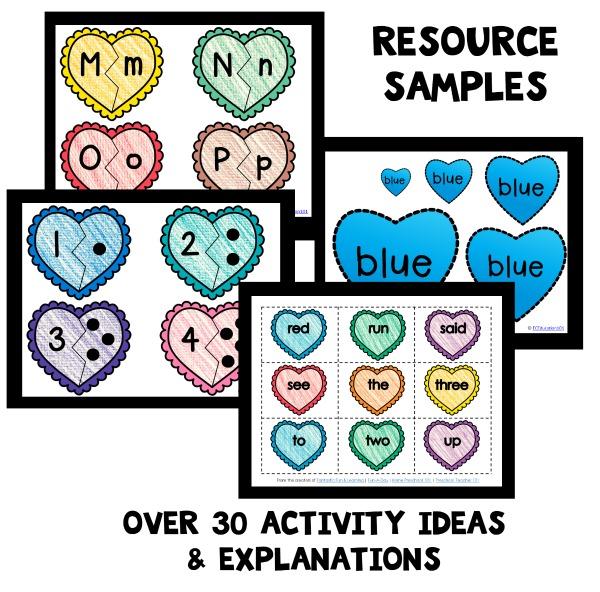 Valentine's Day home preschool lesson plans