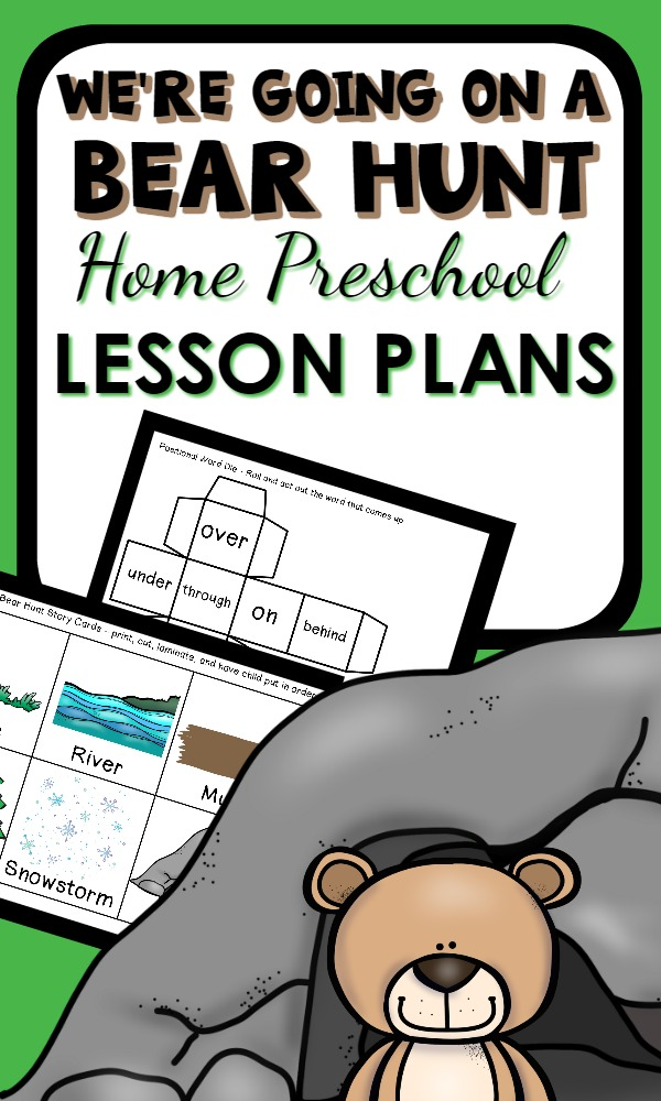 We're Going on a Bear Hunt Home Preschool Activities-A week's worth of hands-on learning with math, science, reading, sensory ideas and more!
