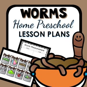 Home Preschool Worm Theme Lesson Plans
