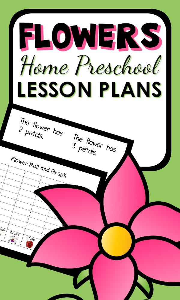 Home Preschool Flower Theme Activities-Printable lesson plans with a full week of playful learning activities. Perfect for spring!