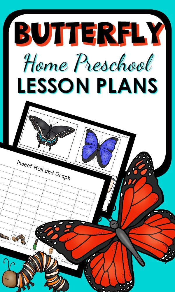 Home Preschool Butterfly Lesson Plans-Learn about the life cycle of a butterfly as you explore caterpillars and butterflies with a variety of reading, math, science, art, and sensory activities