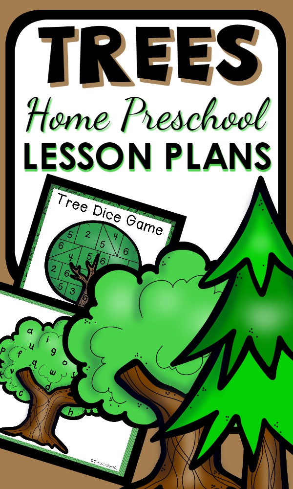 Home Preschool Lesson Plans for a Tree Theme. Printable activities and hands-on play ideas