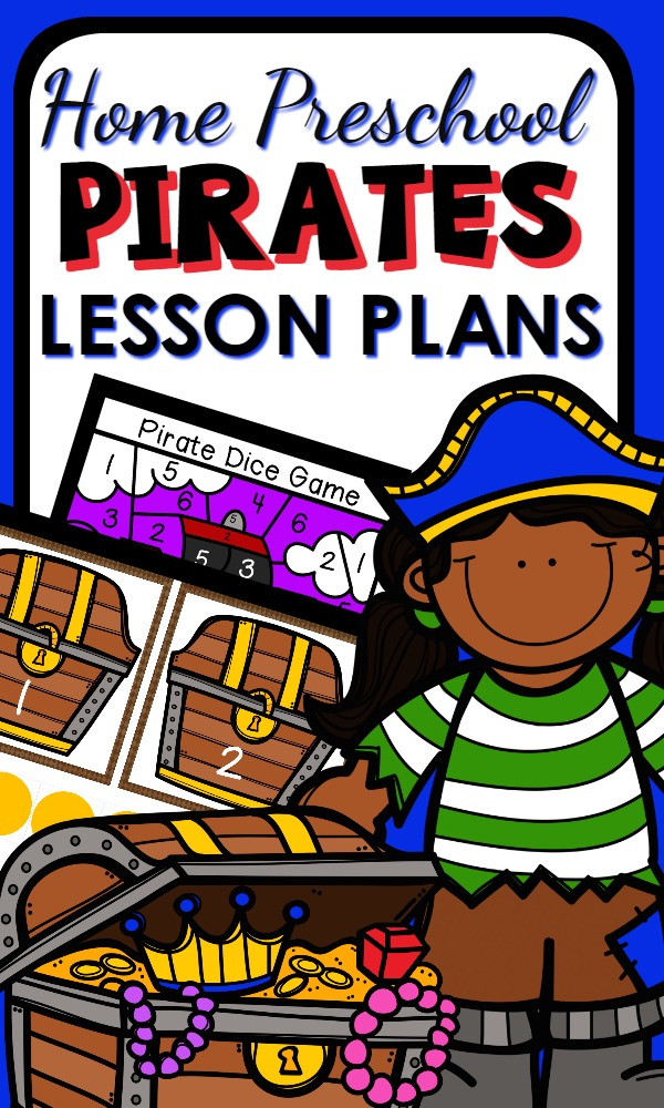 Pirate Theme Activities and Home Preschool Lesson Plans