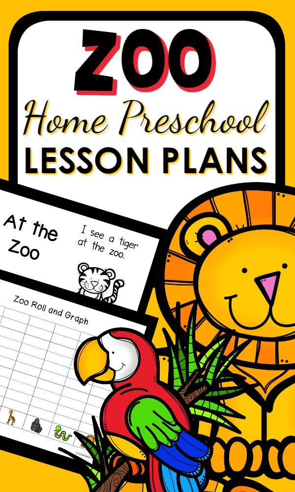 Home Preschool Zoo Activities with a full week's worth of lesson plans and printable activities