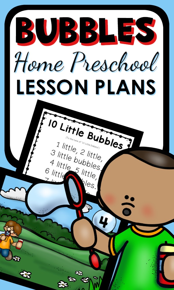 Tons of fun bubbles activities with printable lesson plans and activities for your home preschool bubble theme