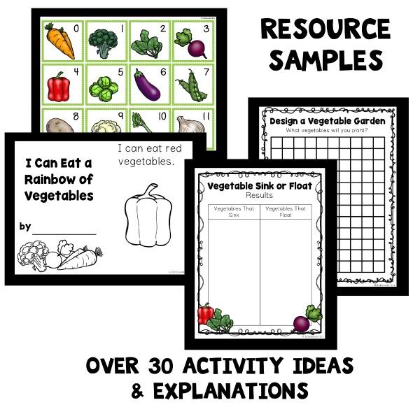 Vegetable Theme Home Preschool Lesson Plans Home