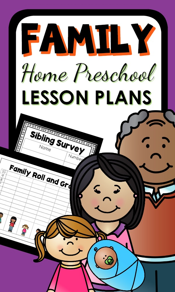 Family Theme Activities for Home Preschool