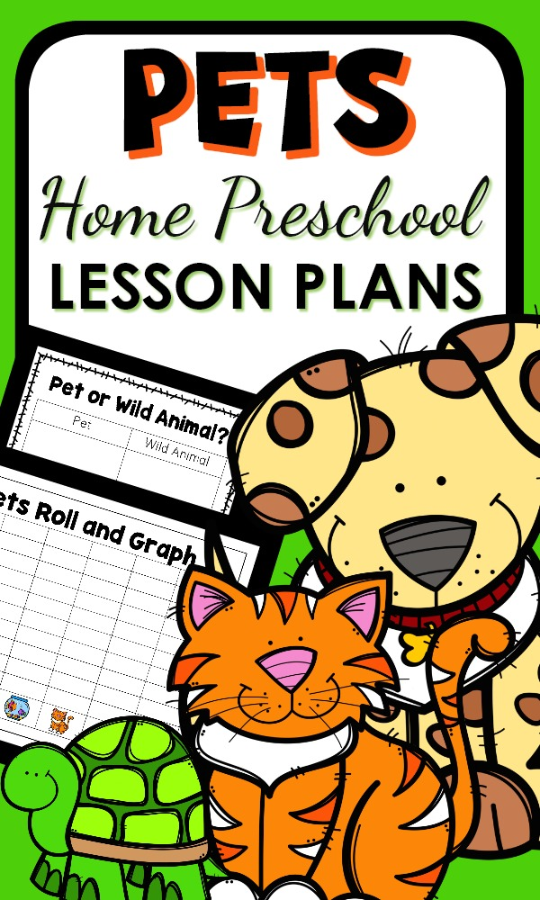 Pet Theme Theme Activities for Home Preschool. Includes printable lesson plans, learning activities and play ideas