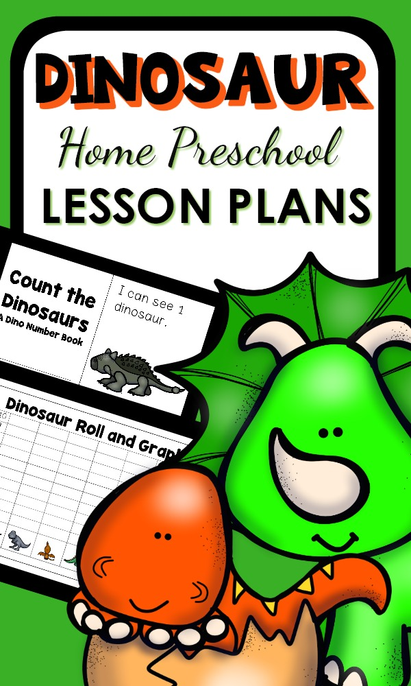 Dinosaur Activities for Home Preschool with printable lesson plans and hands-on activities