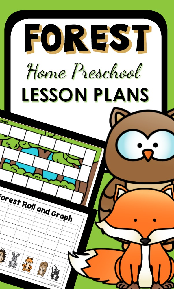 Home Preschool Forest Theme activities and printables