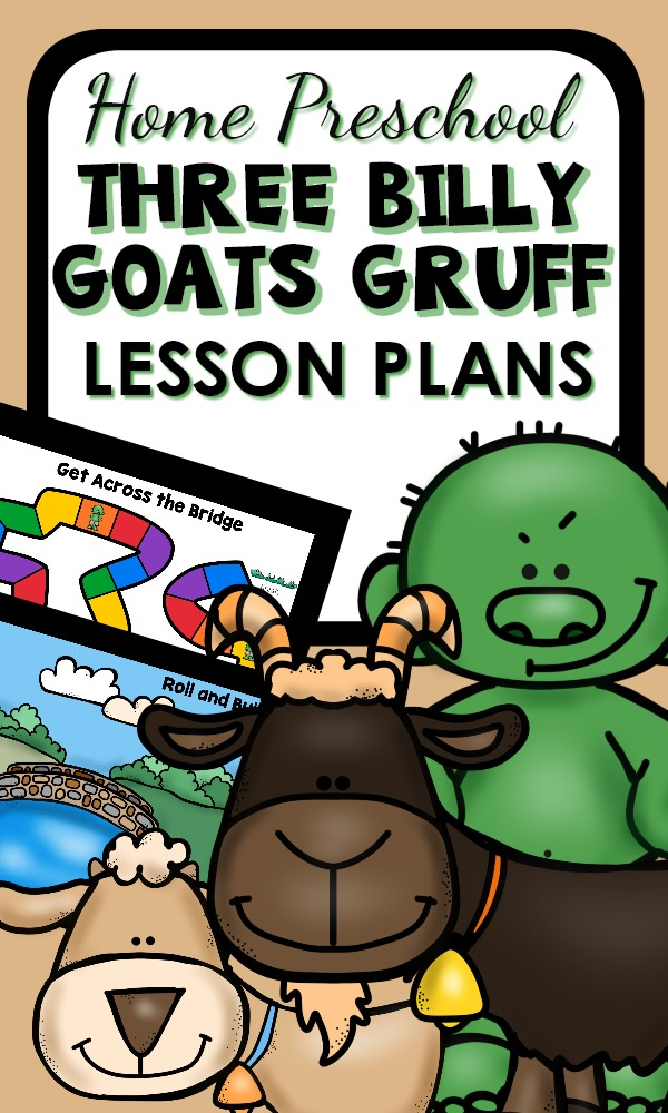 Three Billy Goats Gruff Activities for Home Preschool