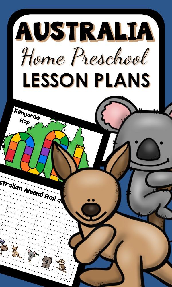 Home Preschool Australian Theme Activities-Learn about Australian animals for Australia Day in January #homepreschool #preschoolathome