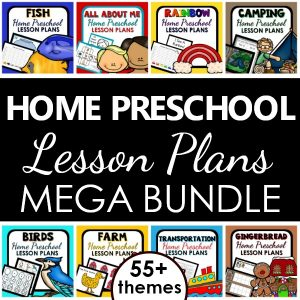 Home Preschool Lesson Plans. Preschool at Home Curriculum Bundle
