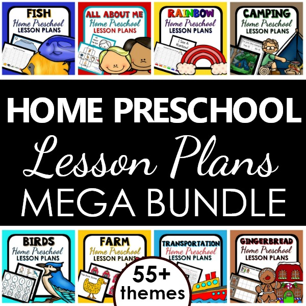 Home Preschool Lesson Plans. Preschool at Home Curriculum Bundle